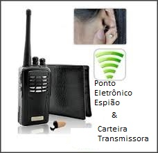 Ponto Eletrônico Espião + Carteira Transmissora